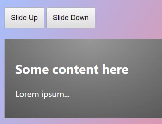 ES6 slideUp & slideDown Library