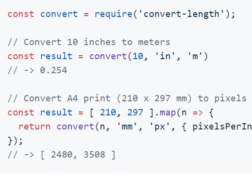ES6 Length Unit Converter – convert-length