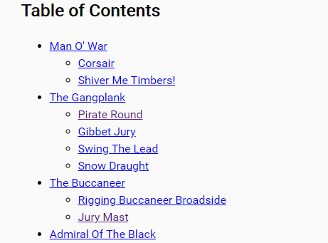 Generate A Hierarchical Table Of Contents With Vanilla JS – toc-plugin