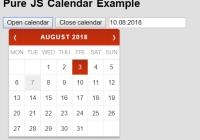 Minimal Date Picker Calendar In Pure JS - pureJSCalendar-min
