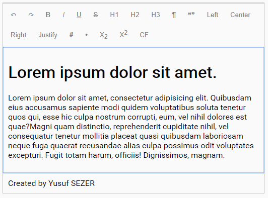 Simple Extensible WYSIWYG Editor – ysEditor.js