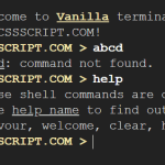 Cross-platform Terminal Emulator In Vanilla JavaScript – vanilla-terminal