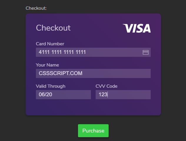 Fancy Animated Checkout Experience