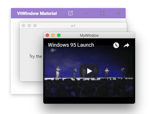 Material & macOS Style Dialog Window In JavaScript – VtWindow