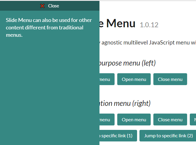Multi-level Sliding Side Menu In Vanilla JavaScript - Slide Menu