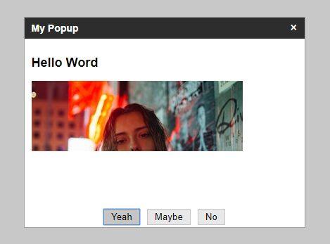 Highly Customizable Dialog Component – dmuka.Popup
