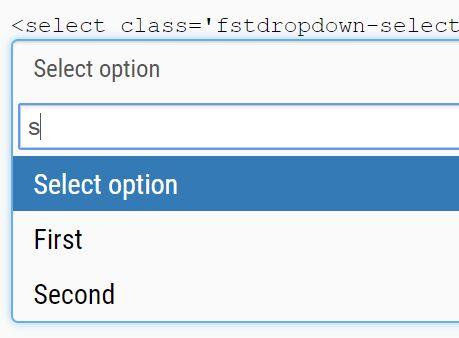 Bootstrap Style Searchable Dropdown Plugin – fstdropdown