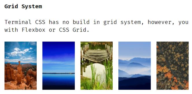 terminal.css Grid Sysytem