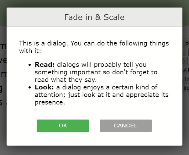 20 Modal Dialog Appearance Effects – xdialog
