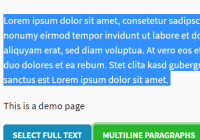 Lightweight Text Selection JavaScript Library - text-select