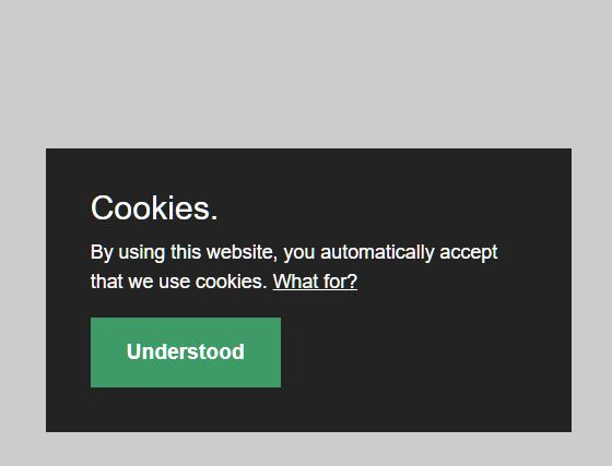 Minimal Cookie Consent Popup In JavaScript – PureCookie