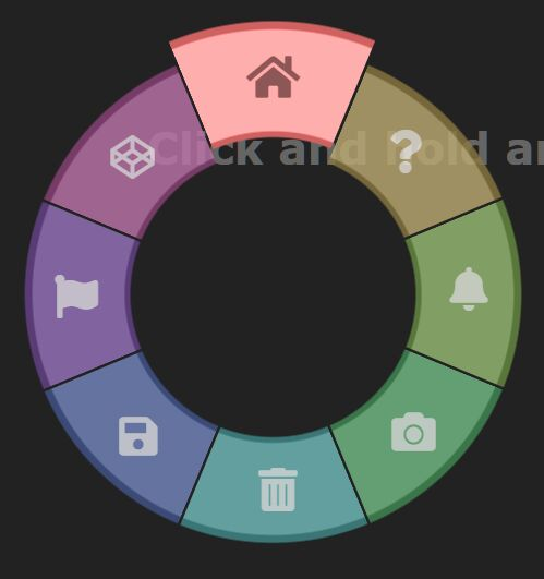 Interactive Wheel Menu With JavaScript And CSS