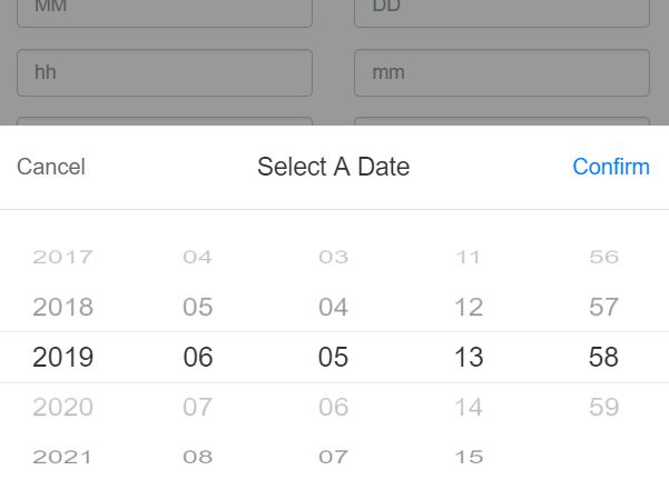 Mobile-first iOS-style Date Picker In Vanilla JavaScript – rolldate