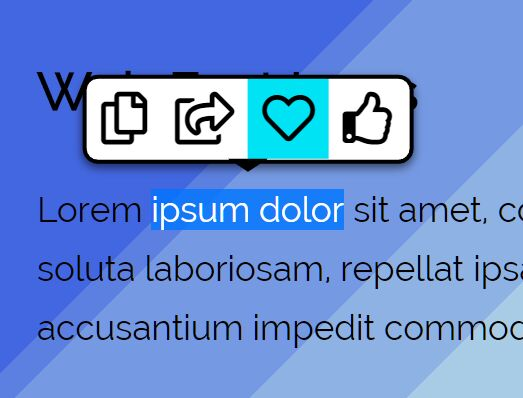 Tooltip Popup On Text Selection – TextTip