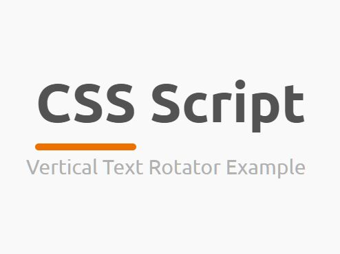 Vertical Text Rotator In JavaScript And CSS3