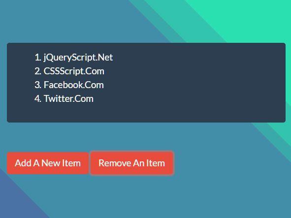 CRUD HTML List In Pure JavaScript – ulol.js