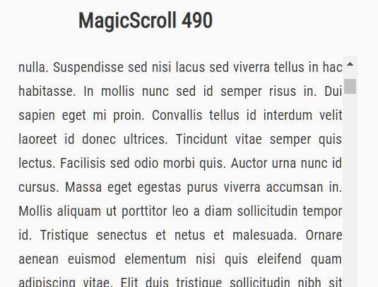 Momentum Scrolling Effect For Mouse Wheel – magic-scroll