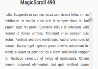 Momentum Scrolling Effect For Mouse Wheel - magic-scroll