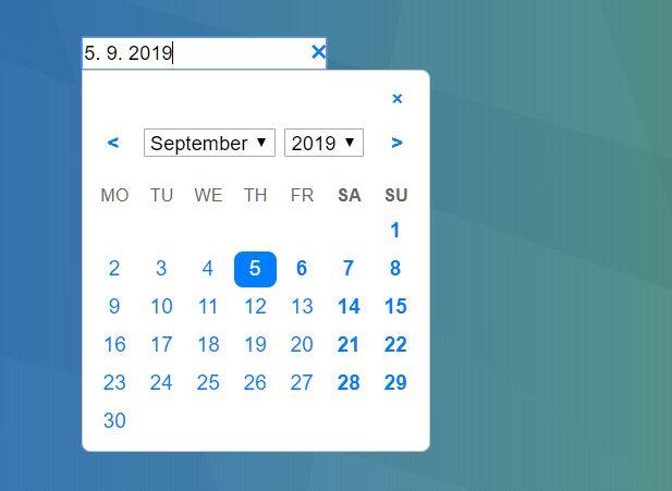 Developer-friendly Date Picker In Pure JavaScript – thedatepicker
