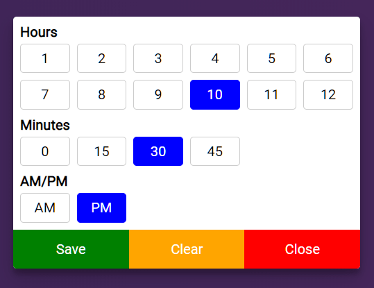 Mobile-friendly Time Picker Popup – nj-timepicker