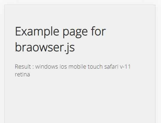 Browser/Device/OS/Screen Detection With Version – braowser.js