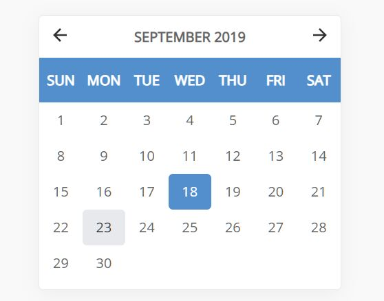 Simple Filterable Calendar In Pure JavaScript – vanilla-calendar