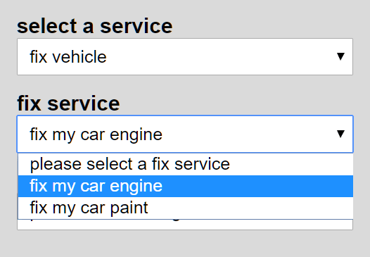 Show/hide Select Boxes Depending On The Previous Selection – multiSelect.js