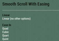 Smooth Scroll With Easing Functions - smooth-scroll