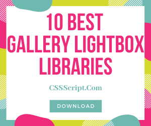 10 Best Gallery Lightbox Libraries In Pure JavaScript