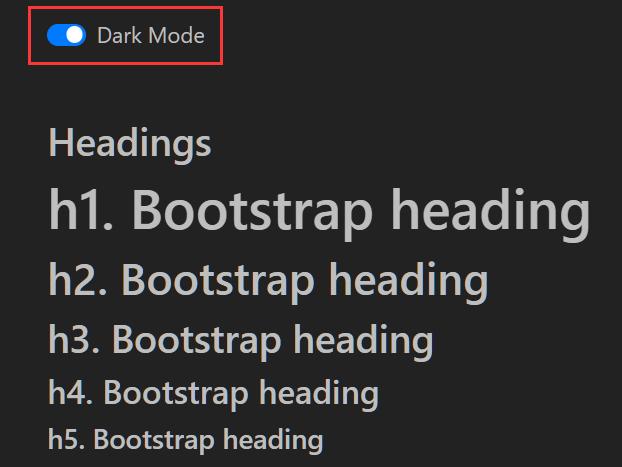 Dark Mode Switcher For Bootstrap 4