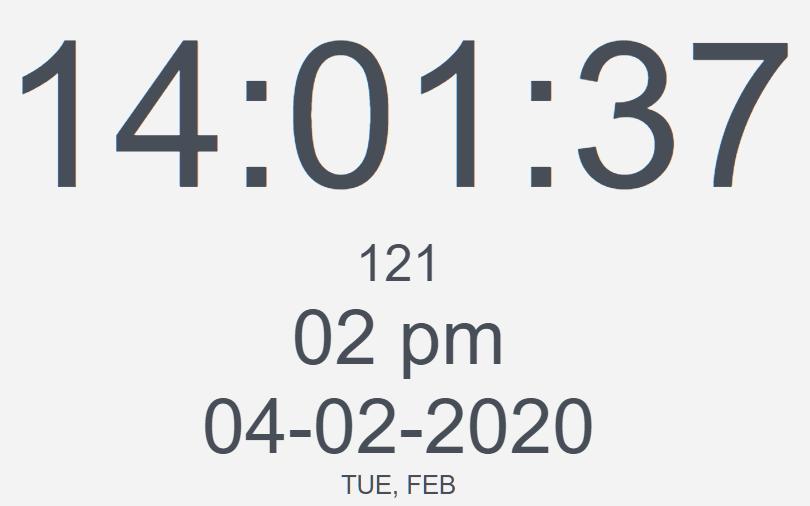 Feature-rich Countdown/Clock/Timer In Vanilla JavaScript – W3FClockTimer