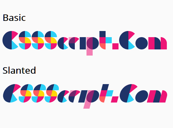 Generate Geometric Art Text With CSSans Pro