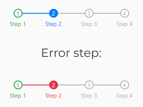 Linear Step-by-Step Flow – Bootstrap Steps