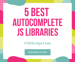 5 Best Autocomplete Libraries In Vanilla JavaScript