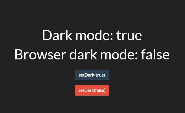 Handling Browser/OS Dark Mode With Darkmode.js