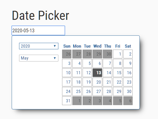 User-friendly Date Picker In JavaScript – date-selector