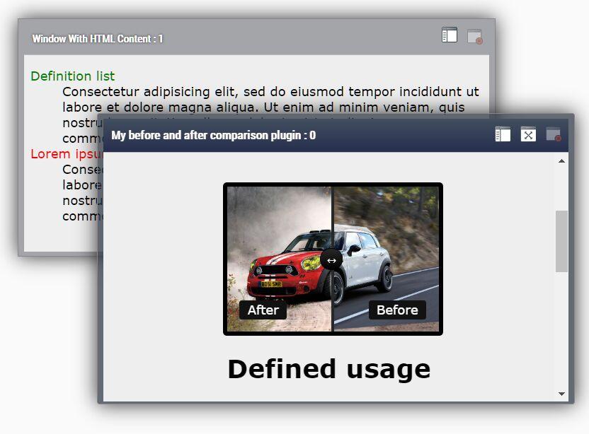 Dockable Draggable Modal Dialog – native-window.js