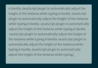 Automatic Textarea Resizer In Vanilla JavaScript