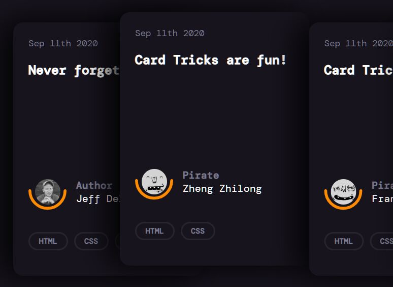 CSS Only Stacked Card Template – Card.css