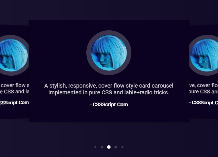 Cover Flow Style Card Carousel In Pure CSS