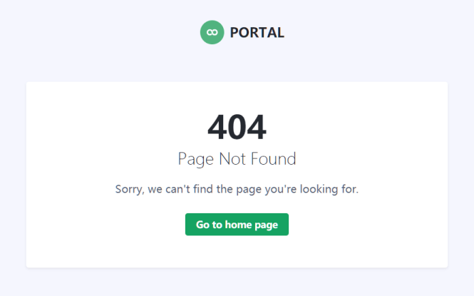 Portal Free Bootstrap 5 Admin Dashboard Template 404
