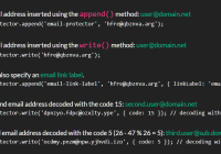 Protect Email Addresses Using ROT13 Substitution Cipher - email-protector.js