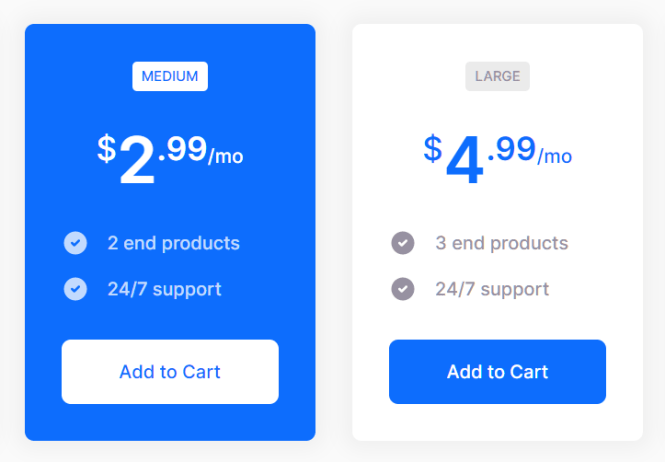Grayshift Framework Pricing Table Block