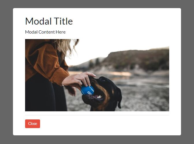 Minimal Modal Popup For Inline Content – Modal.js