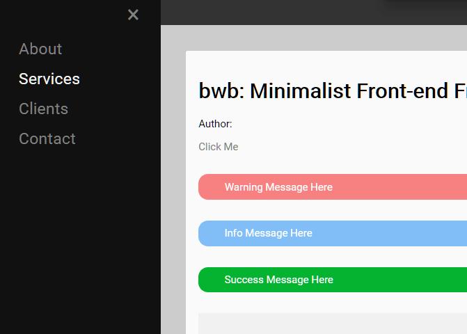 Minimalist Front-end Framework – bwb
