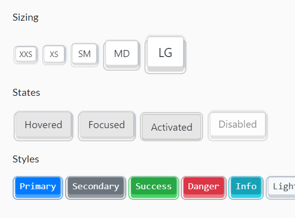 Create Keyboard Style Buttons With Keyboard.css