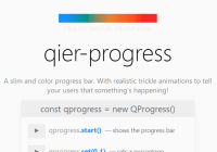 Colorful Progress Bar Library For Vanilla JavaScript - Qier Progress