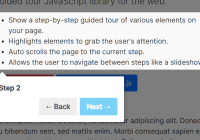 Feature-rich Step-by-Step User Guide In JavaScript - webtour.js