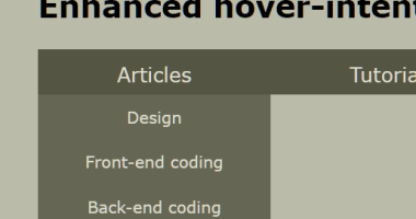 Determine User Intent Using Vanilla JavaScript - sv-hover-intent