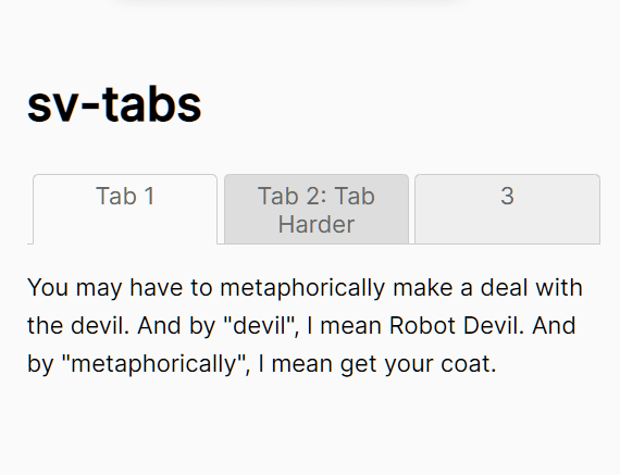Tabbed Content With Equal Height Support – sv-tabs-js